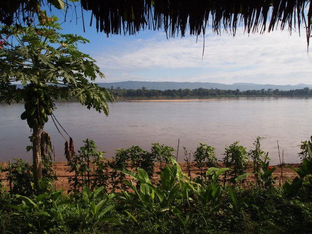 River front view of the Mekong from Bouy Guest House